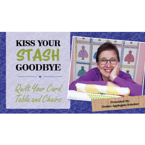 Kiss Your Stash Goodbye: Quilt Your Card Table and Chairs