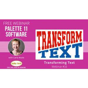 Palette 11 Webinar #10 - Transforming Text