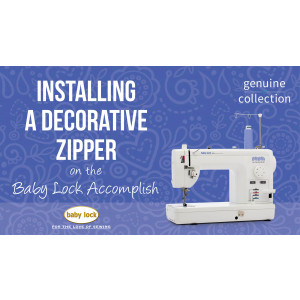 Accomplish - Installing a Decorative Zipper