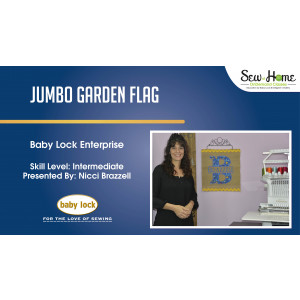 Project: Enterprise Jumbo Applique Garden Flag