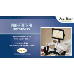 Pro-Stitcher Recording