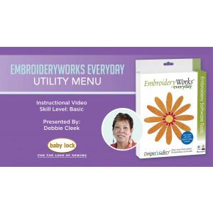 EmbroideryWorks Everyday Webinar - Utility Menu