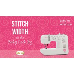 Joy - Stitch Width