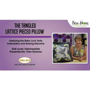 Project: Tangled Lattice Pieced Pillow