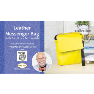 Leather Messenger Bag with Baby Lock Accomplish