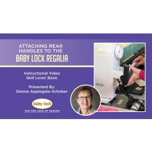 Pro-Stitcher Designer Software - Attaching the Rear Handles to the Regalia