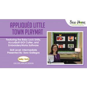 Project: Appliqued Little Town Playmat