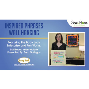 Project: Inspired Phrases Wall Hanging