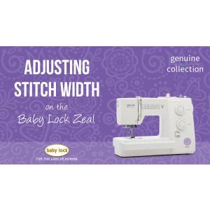 Zeal - Adjusting Stitch Width