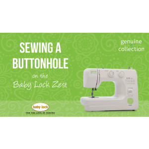 Zest - Sewing a Buttonhole