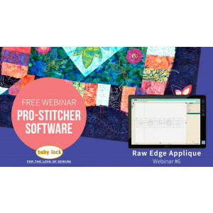 Pro-Stitcher Webinar 6 - Raw Edge Appliqué with Pro-Stitcher