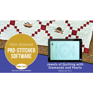 Pro-Stitcher Webinar: Jewels of Quilting with Diamonds and Pearls - December 2019