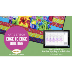Art and Stitch: Edge to Edge Quilting