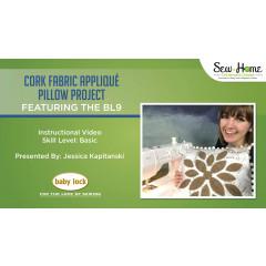 Cork Fabric Appliqué Pillow Project