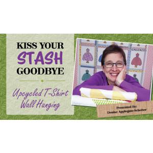 Kiss Your Stash Goodbye: Upcycled T-Shirt Wall Hanging