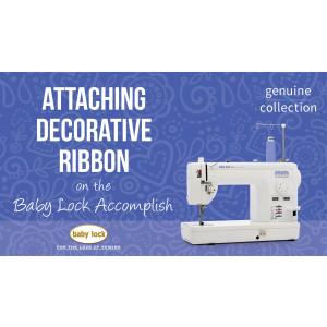 Accomplish - Attaching Decorative Ribbon