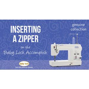 Accomplish - Inserting a Zipper
