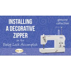 Accomplish - Installing a Decorative Zipper