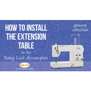 Accomplish - How to Install the Extension Table