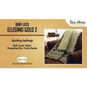 Ellisimo Gold 2 - Quilting Settings