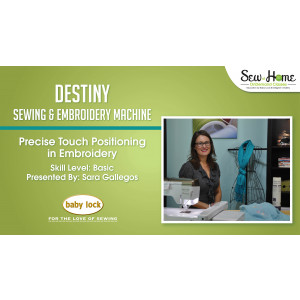 Destiny - Precise Touch Positioning in Embroidery