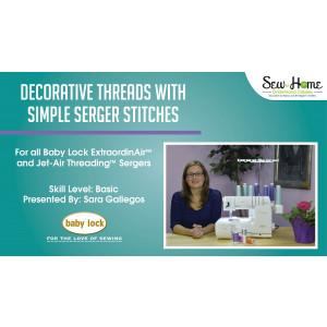 Decorative Threads with Simple Serger Stitches