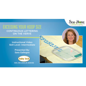 Exceeding Your Hoop Size - Continuous Lettering on the Verve