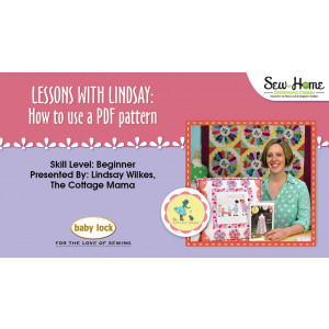 Lessons With Lindsay - How to use a PDF Pattern