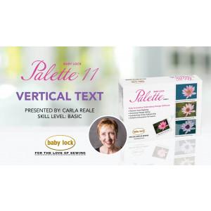 Palette 11 - Vertical Text