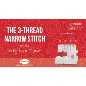 Vibrant - The 3-Thread Narrow Stitch