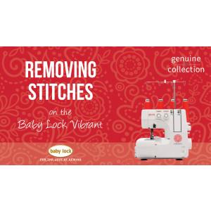 Vibrant - Removing Stitches