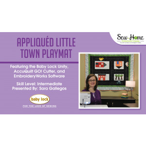 Project: Appliqued Little Town Playmat