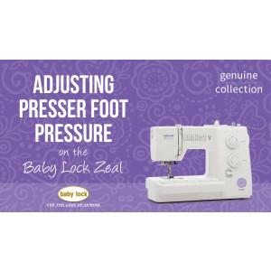 Zeal - Adjusting Presser Foot Pressure