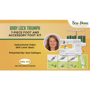 Baby Lock Triumph 7-Piece Foot and Accessory Kit