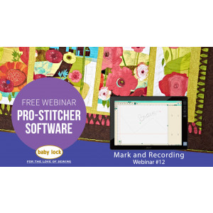 Pro-Stitcher Webinar: Mark and Recording - January 2019