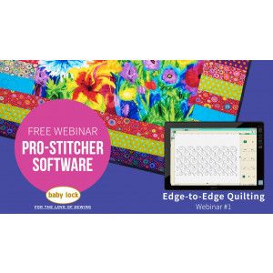 Pro-Stitcher Webinar 1 - Edge to Edge Quilting
