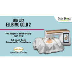 Ellisimo Gold 2 - First Steps in Embroidery Part 2