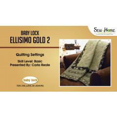 Ellisimo Gold 2 - Quilting Settings