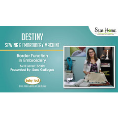 Destiny - Border Function in Embroidery