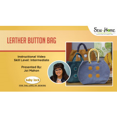 Project: Chubby Leather Button Bag