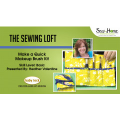 Make a Quick Makeup Brush Kit with The Sewing Loft