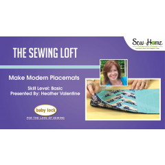 Make Modern Placemats with The Sewing Loft