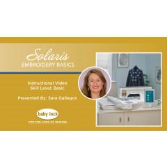 Solaris - Embroidery Basics