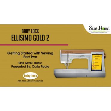 Ellisimo Gold 40 Getting Started With Sewing Part 40 Beauteous Ellisimo Sewing Machine